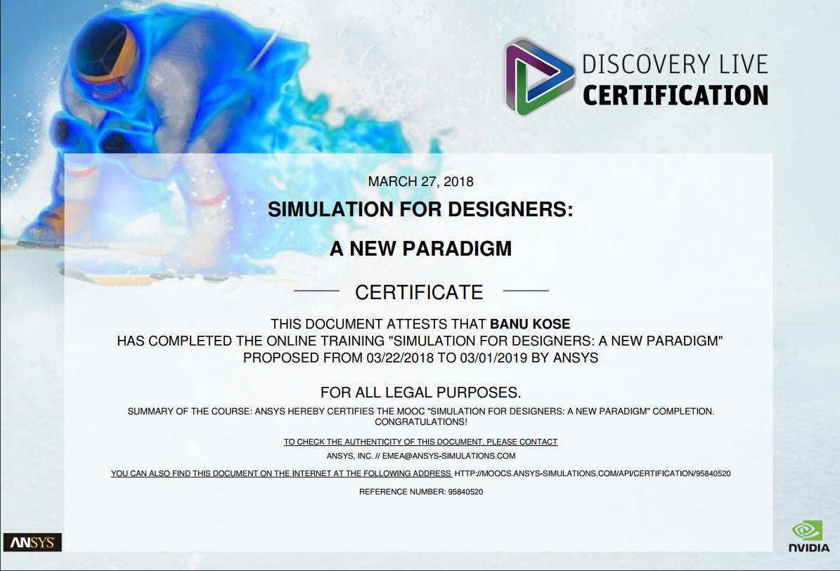 Cardiovascular Mechanics Certificated Ansys Discovery Live 3d